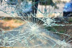 Broken glass detail background Royalty Free Stock Image