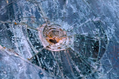 Broken glass effect Stock Image