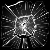 Broken glass. The fragments of broken window glass on black background illustration vector illustration