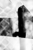 Broken Glass Grayscale Royalty Free Stock Images