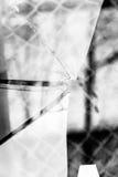 Broken Glass Grayscale Royalty Free Stock Photos