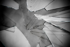Broken Glass Grayscale Royalty Free Stock Image