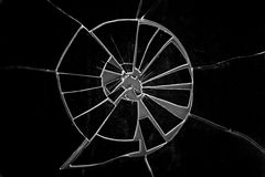 Broken Glass Grunge Layer - On  Black Stock Images