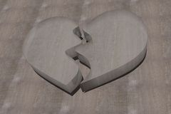 Broken glass heart Royalty Free Stock Photo