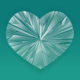 Broken glass heart. Stock Photos