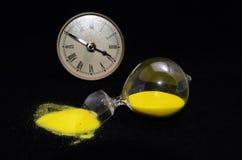 Broken Glass Hourglass Stock Photo