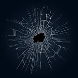 Broken glass illustration. Broken glass black background for web and mobile devices Royalty Free Stock Photo