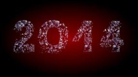 Broken glass 2014. Inscription broken glass 2014 calendar two zero one four in the texture of broken glass Stock Image