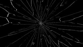 Broken glass isolated on black background. 3D illustration Royalty Free Stock Photography