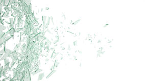 Broken glass isolated on white backgorund. 3d illustration. Broken glass background isolated on white. 3d illustration Stock Photography