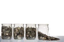 Free Broken Glass Jars Royalty Free Stock Photography - 12475807
