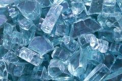 Broken Glass Macro Above Stock Image