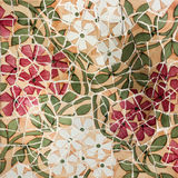Broken glass mosaic tile, decoration in Park Guell, Barcelona, S. Pain. Designed by Gaudi Royalty Free Stock Photography