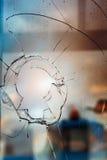 Broken glass outdoors Stock Images