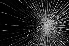 Broken glass pane Royalty Free Stock Image