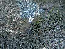 Broken Glass Royalty Free Stock Photography