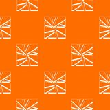 Broken glass pattern seamless. Broken glass pattern repeat seamless in orange color for any design. Vector geometric illustration Stock Photography