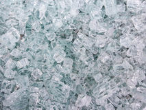 Broken glass in pieces background Stock Image