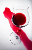 Broken glass of red wine, a symbol of the loss Royalty Free Stock Photo