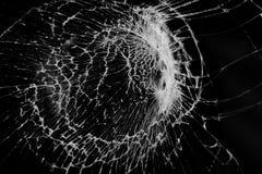 Broken glass screen texture. On black background royalty free stock photos