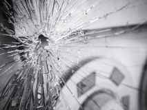 Broken Glass shattered wreck surface Texture Background Royalty Free Stock Photography