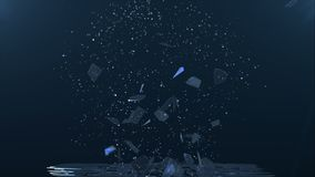 Broken glass, slow motion. stock footage