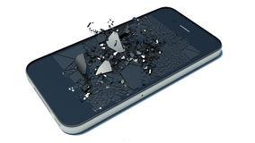 Broken glass smart-phone Royalty Free Stock Images