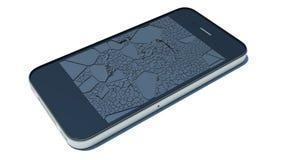 Broken glass smartphone Stock Photo