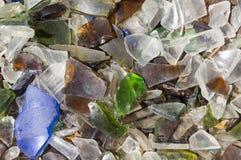 Broken glass stycken Arkivfoto