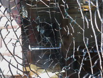 Broken glass surface background Royalty Free Stock Images