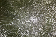Broken glass texture Stock Photos