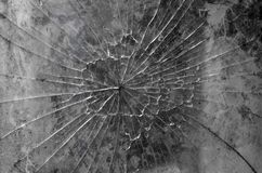 Broken glass texture in the form of a web. Horizontal frame royalty free stock photos