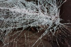 Broken glass texture Isolated realistic cracked glass effect, concept element. stock images