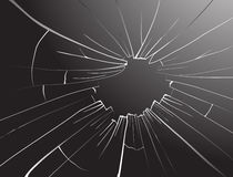 Broken glass.Vector. Stock Image