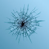 Broken glass. Vector drawing Stock Images