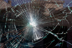 Broken glass web Stock Photo