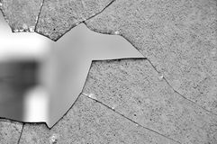 Broken glass window Stock Images