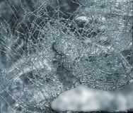 Broken glass window Royalty Free Stock Photography