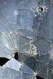 Broken glass window. A broken window glass - detail royalty free stock photo