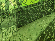 Broken glass window, background of cracked glass Stock Photos