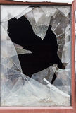 Broken glass in the window Royalty Free Stock Image