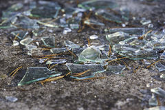 Broken glass window royalty free stock image
