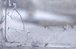 Broken Glass Window Royalty Free Stock Images