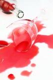 broken glass wine Arkivbild