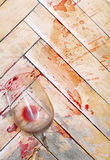 broken glass wine Royaltyfri Fotografi