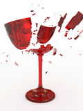 broken glass wine Royaltyfri Illustrationer