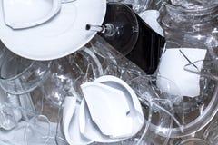 Broken glassware Royalty Free Stock Photo