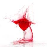 broken glasswine Arkivbild