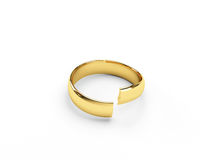 Broken gold wedding rings Stock Photo