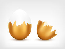 Broken Golden Egg Royalty Free Stock Photo